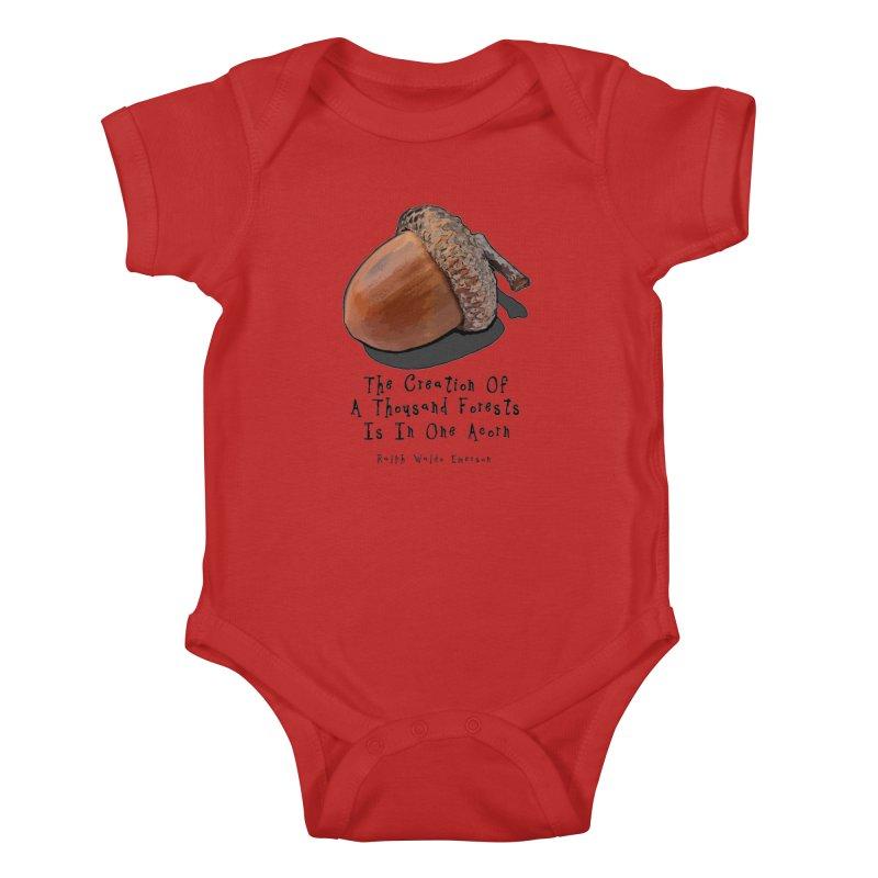 One Acorn Kids Baby Bodysuit by Spiral Saint - Artist Shop