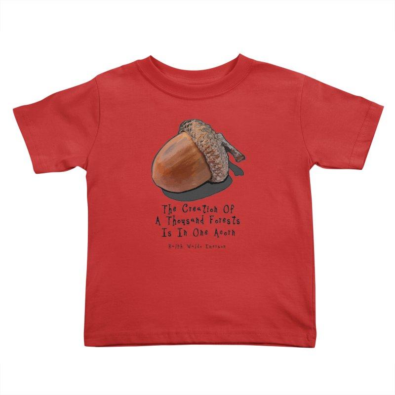 One Acorn Kids Toddler T-Shirt by Spiral Saint - Artist Shop
