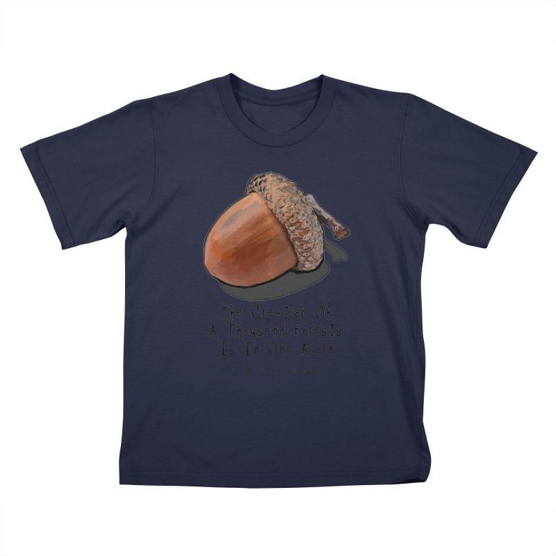 One Acorn Kids T-Shirt by Spiral Saint - Artist Shop