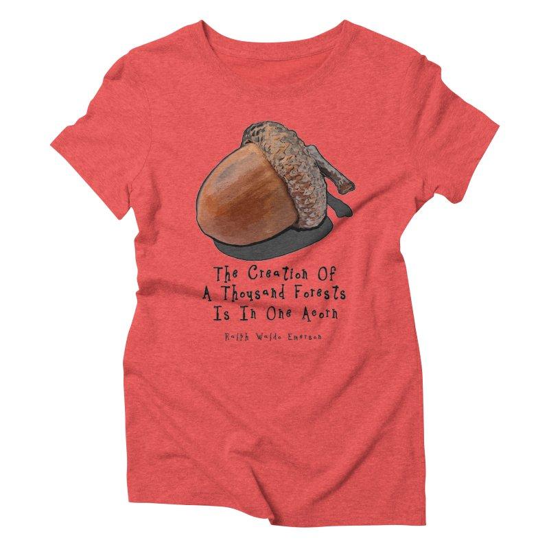 One Acorn Women's Triblend T-Shirt by Spiral Saint - Artist Shop