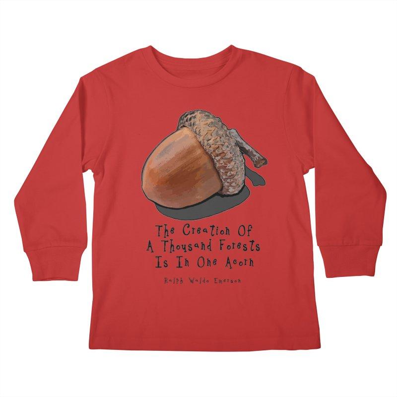 One Acorn Kids Longsleeve T-Shirt by Spiral Saint - Artist Shop