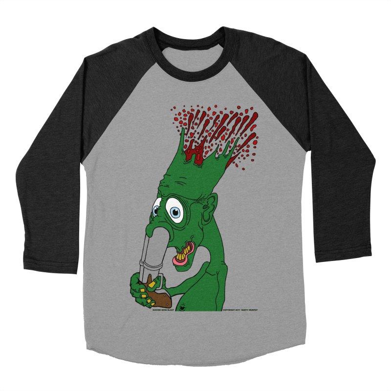 Suicide Nose Blast Men's Baseball Triblend Longsleeve T-Shirt by Spiral Saint - Artist Shop
