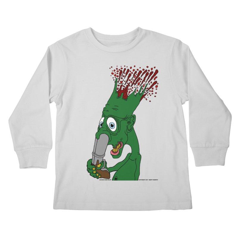 Suicide Nose Blast Kids Longsleeve T-Shirt by Spiral Saint - Artist Shop
