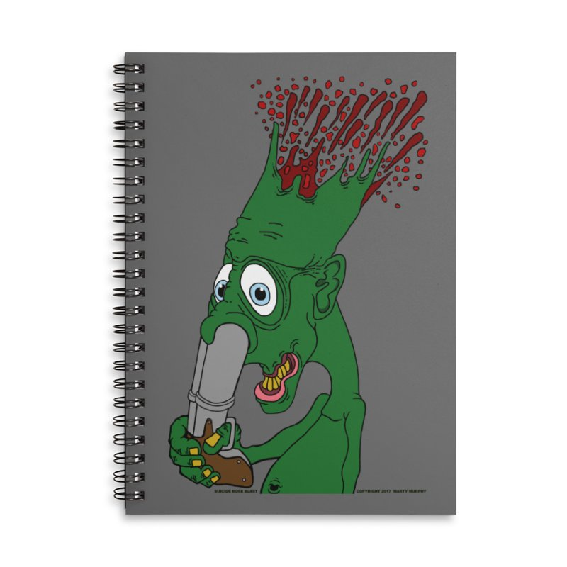 Suicide Nose Blast Accessories Lined Spiral Notebook by Spiral Saint - Artist Shop
