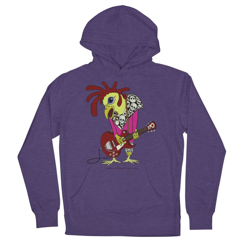The Rooster Women's French Terry Pullover Hoody by Spiral Saint - Artist Shop