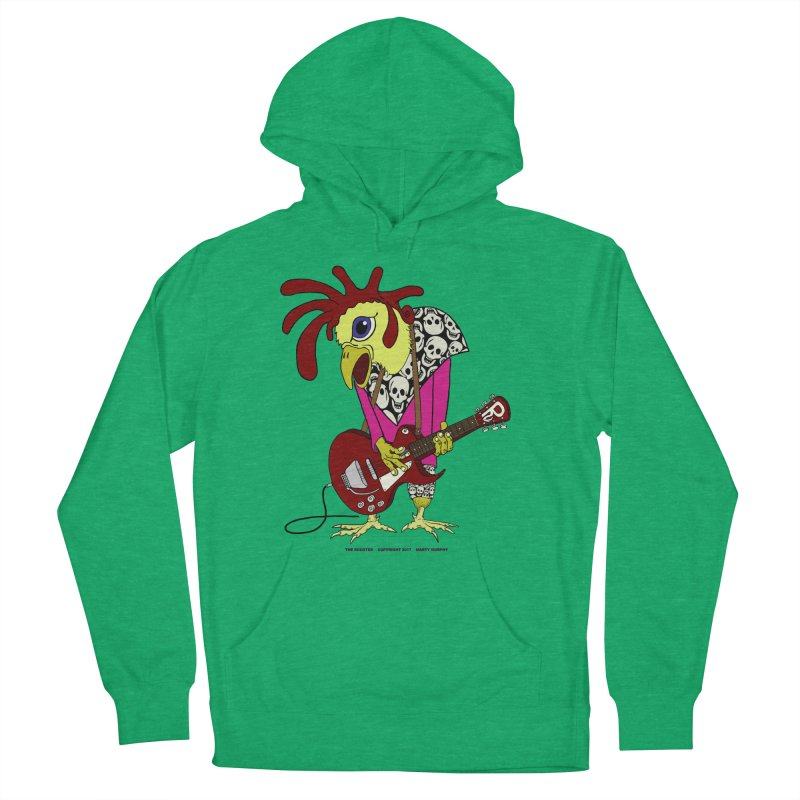 The Rooster Men's French Terry Pullover Hoody by Spiral Saint - Artist Shop