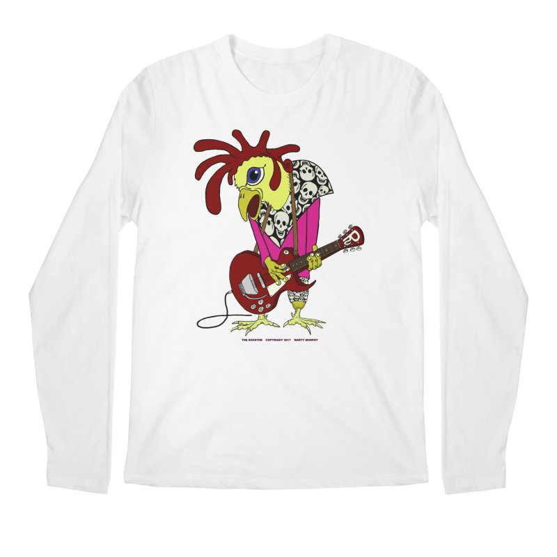 The Rooster Men's Regular Longsleeve T-Shirt by Spiral Saint - Artist Shop