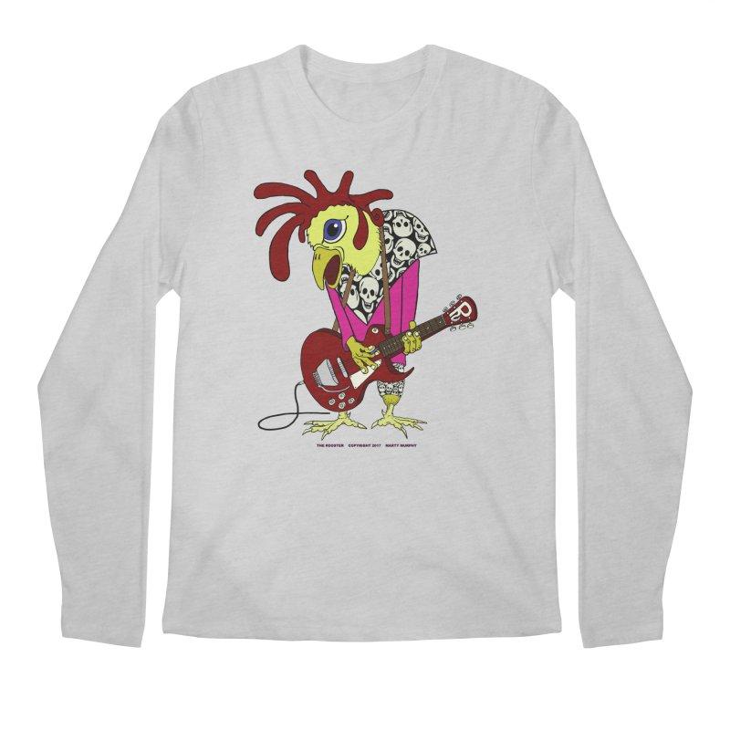 The Rooster Men's Regular Longsleeve T-Shirt by Spiral Saint - Artist Shop