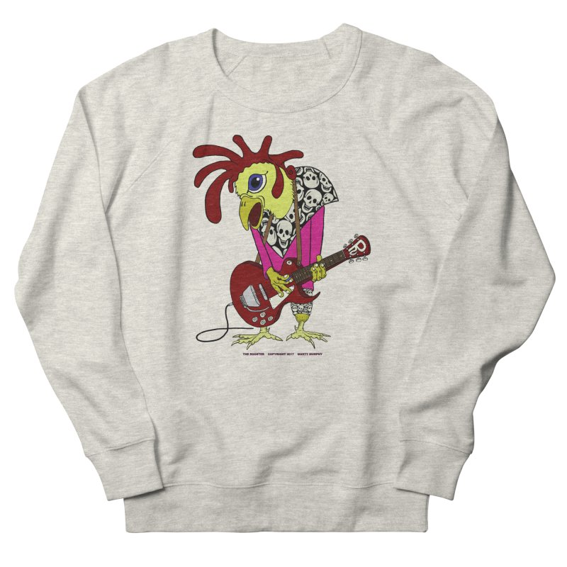 The Rooster Women's French Terry Sweatshirt by Spiral Saint - Artist Shop