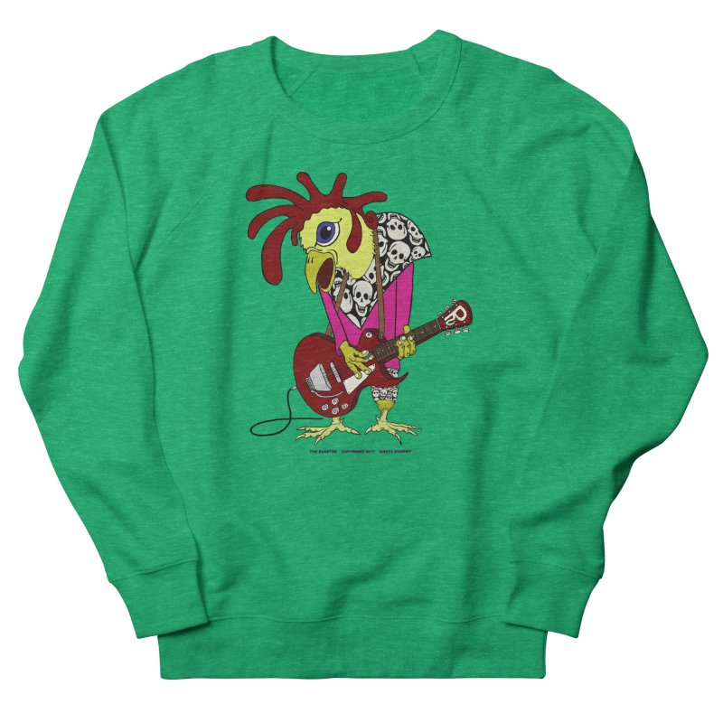The Rooster Men's French Terry Sweatshirt by Spiral Saint - Artist Shop