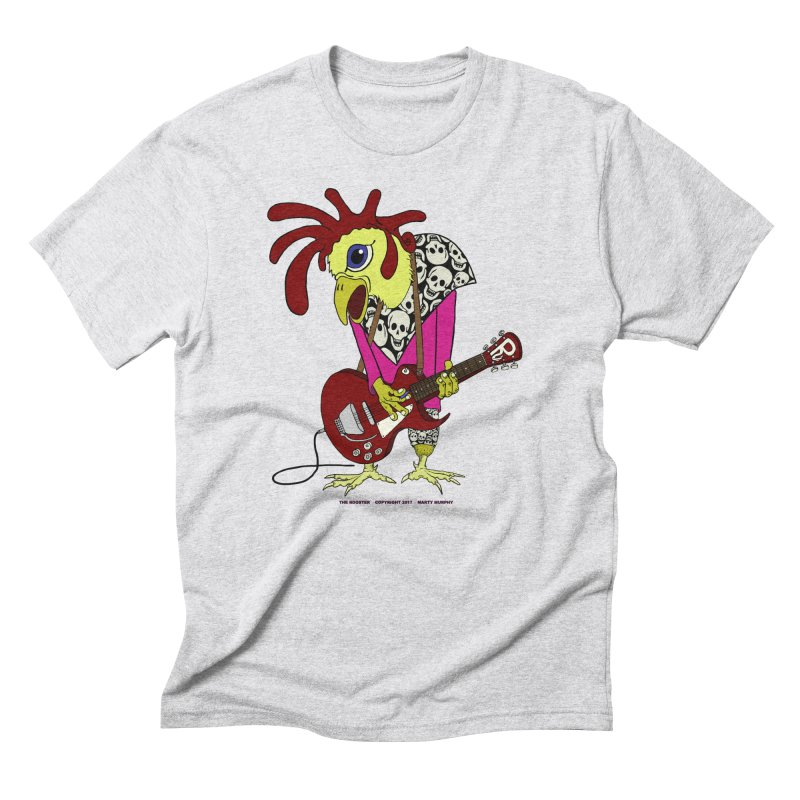 The Rooster Men's Triblend T-Shirt by Spiral Saint - Artist Shop