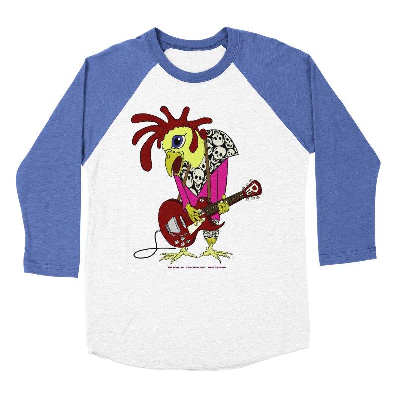 The Rooster Women's Baseball Triblend Longsleeve T-Shirt by Spiral Saint - Artist Shop