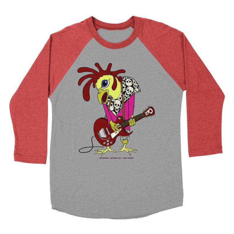 The Rooster Women's Baseball Triblend T-Shirt by Spiral Saint - Artist Shop