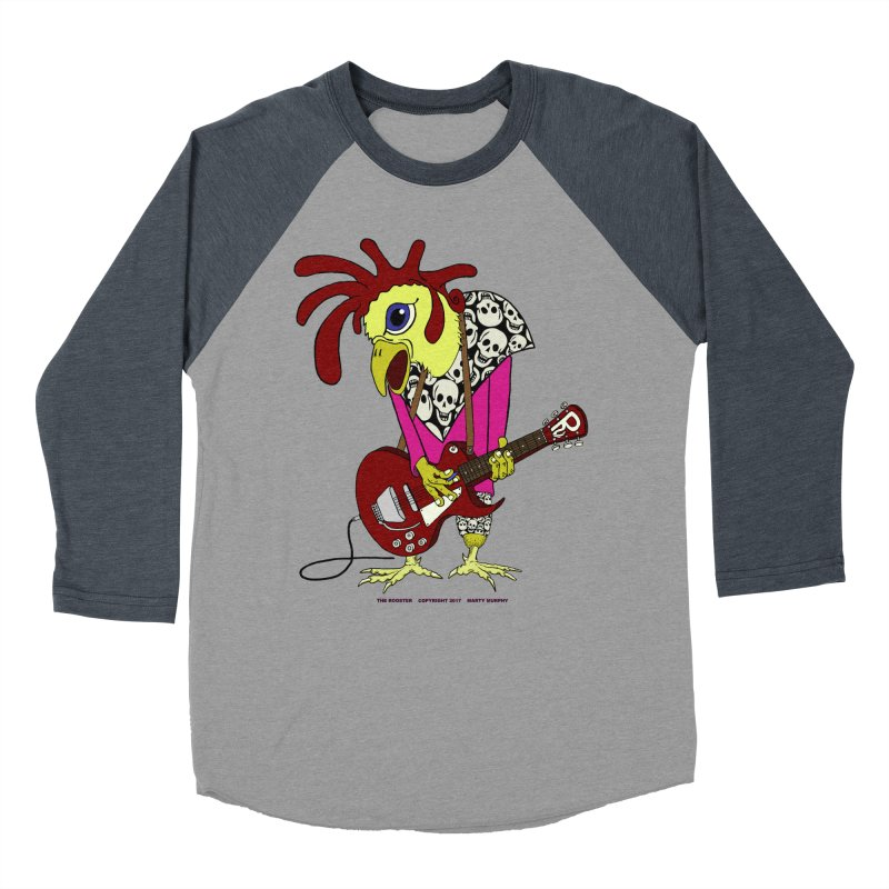 The Rooster Men's Baseball Triblend T-Shirt by Spiral Saint - Artist Shop
