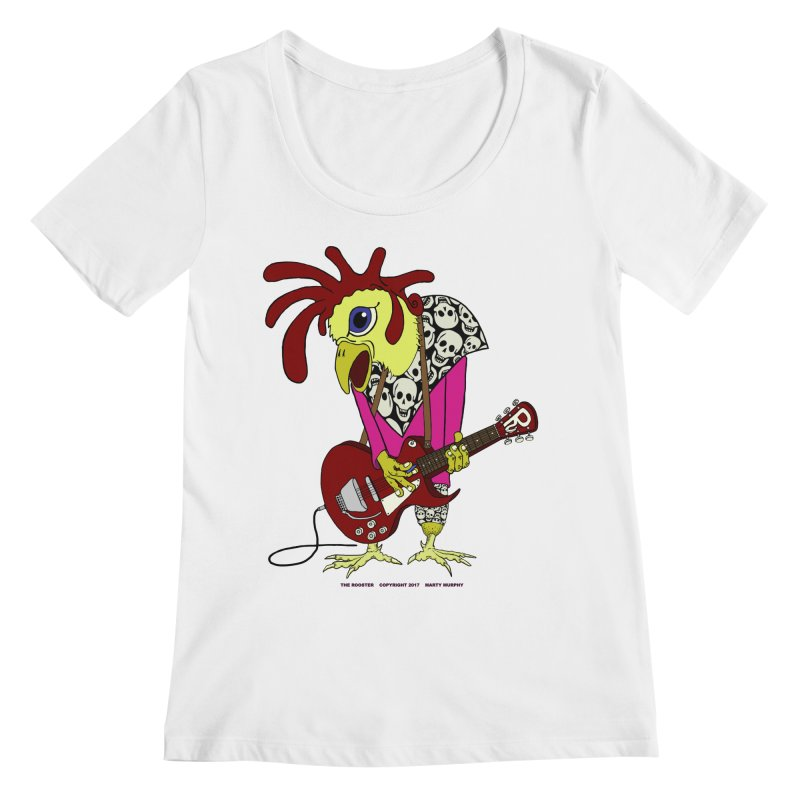 The Rooster Women's Scoopneck by Spiral Saint - Artist Shop