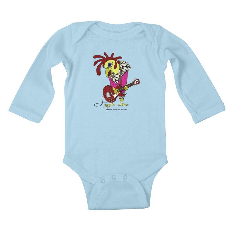 The Rooster Kids Baby Longsleeve Bodysuit by Spiral Saint - Artist Shop