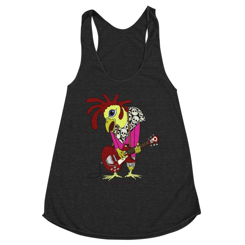 The Rooster Women's Racerback Triblend Tank by Spiral Saint - Artist Shop