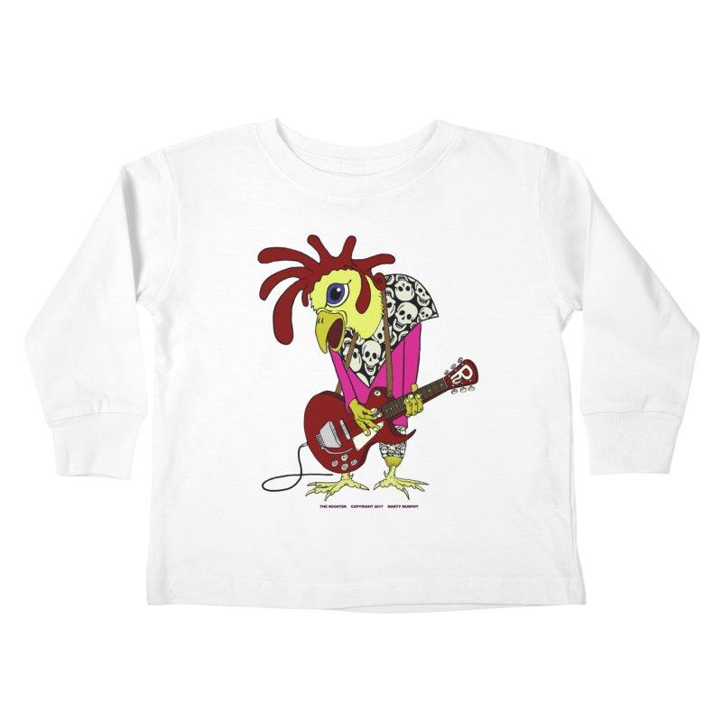 The Rooster Kids Toddler Longsleeve T-Shirt by Spiral Saint - Artist Shop