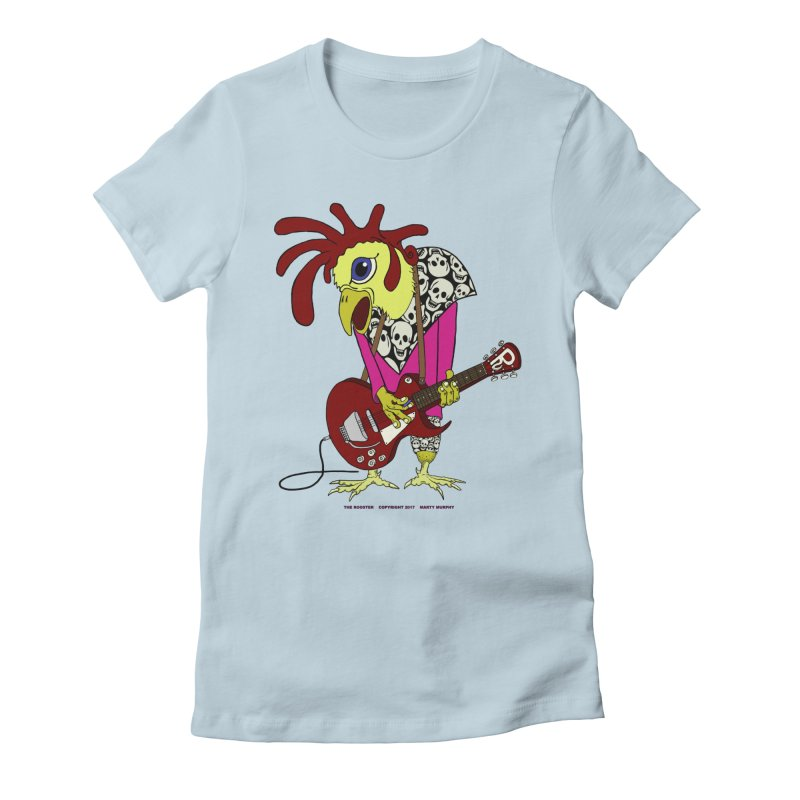 The Rooster Women's Fitted T-Shirt by Spiral Saint - Artist Shop