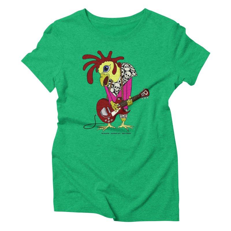 The Rooster Women's Triblend T-Shirt by Spiral Saint - Artist Shop
