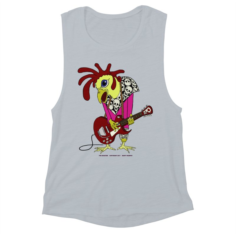 The Rooster Women's Muscle Tank by Spiral Saint - Artist Shop