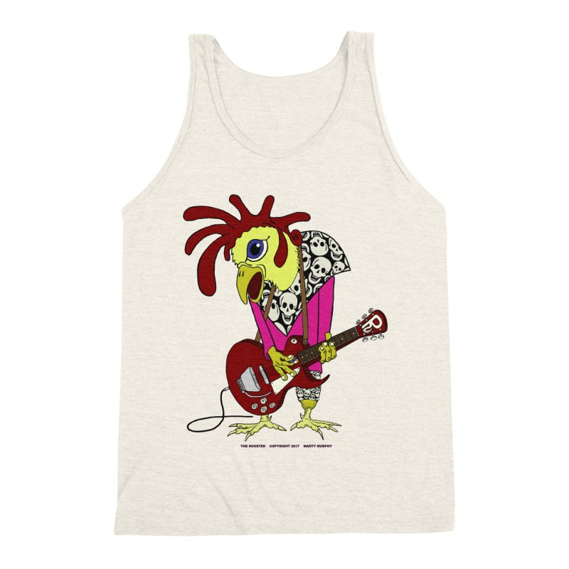 The Rooster Men's Triblend Tank by Spiral Saint - Artist Shop