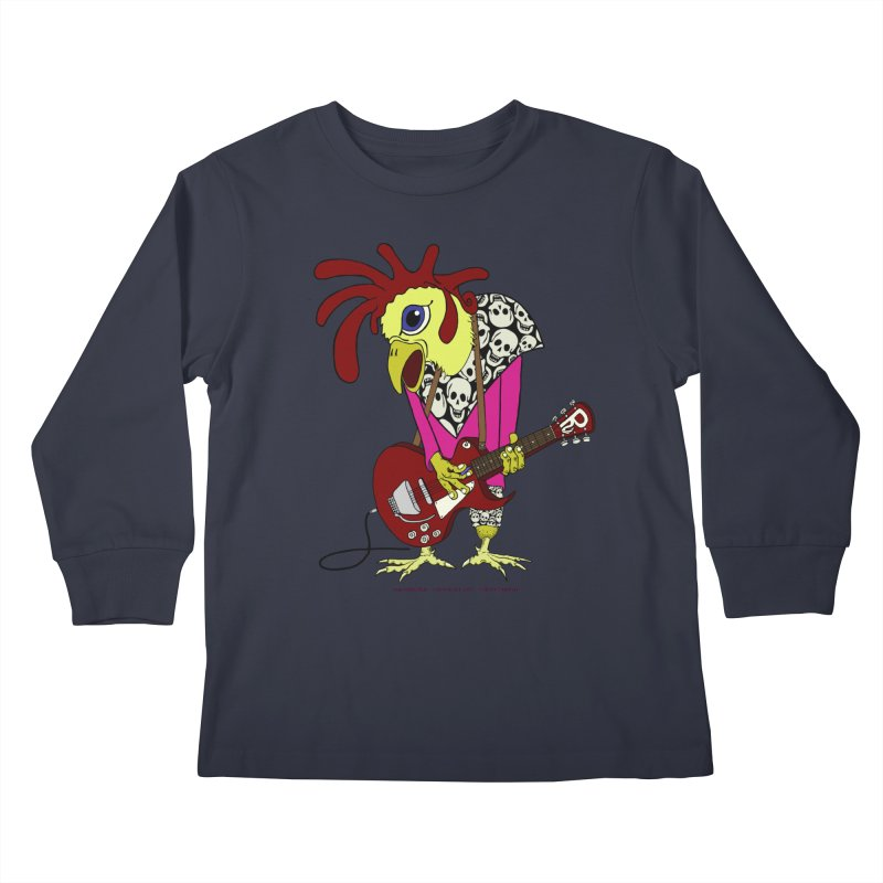 The Rooster Kids Longsleeve T-Shirt by Spiral Saint - Artist Shop
