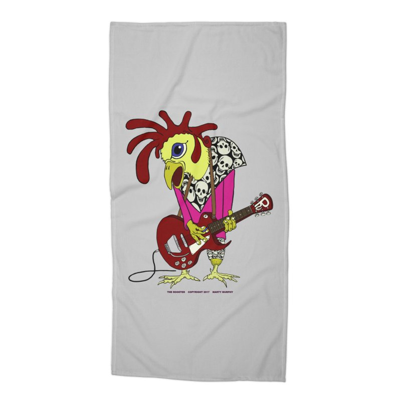 The Rooster Accessories Beach Towel by Spiral Saint - Artist Shop