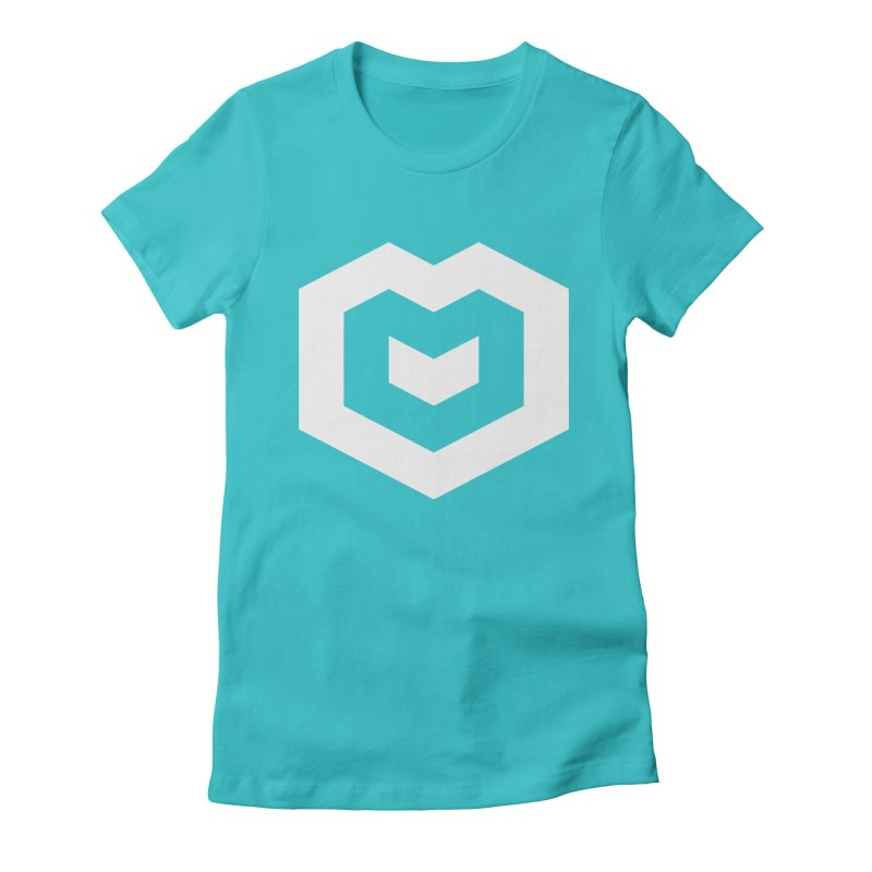 Isometric Heart Women's Fitted T-Shirt by Spires Artist Shop