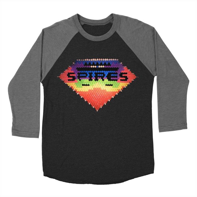 Spires Lite Brite Men's Baseball Triblend T-Shirt by Spires Artist Shop