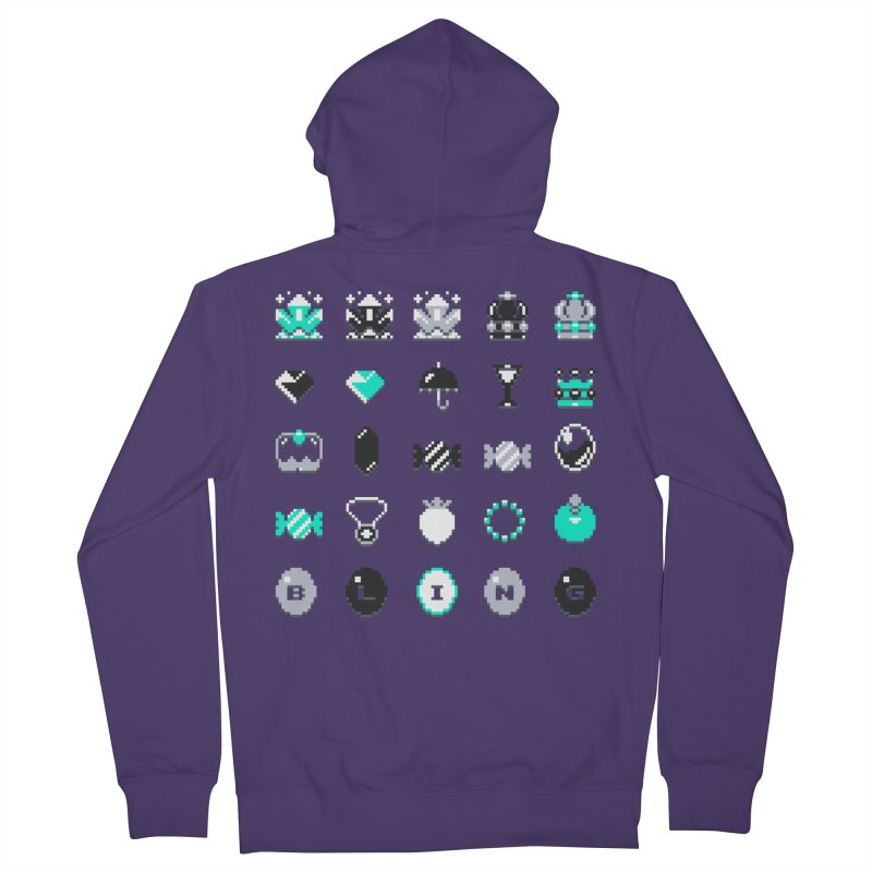 8-Bit Bling Women's Zip-Up Hoody by Spires Artist Shop
