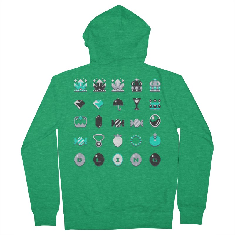 8-Bit Bling Men's Zip-Up Hoody by Spires Artist Shop