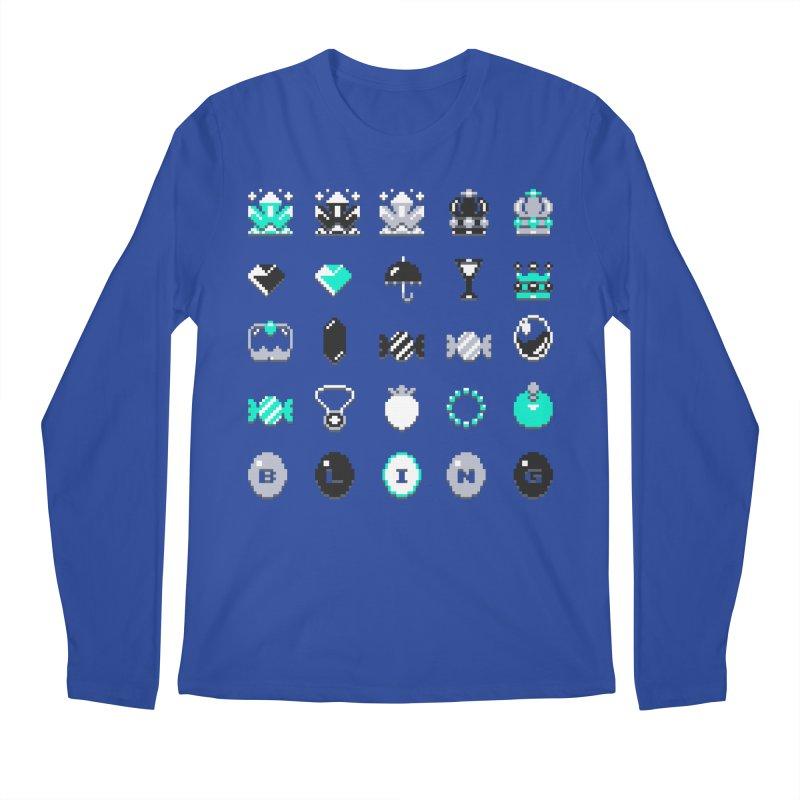 8-Bit Bling Men's Longsleeve T-Shirt by Spires Artist Shop