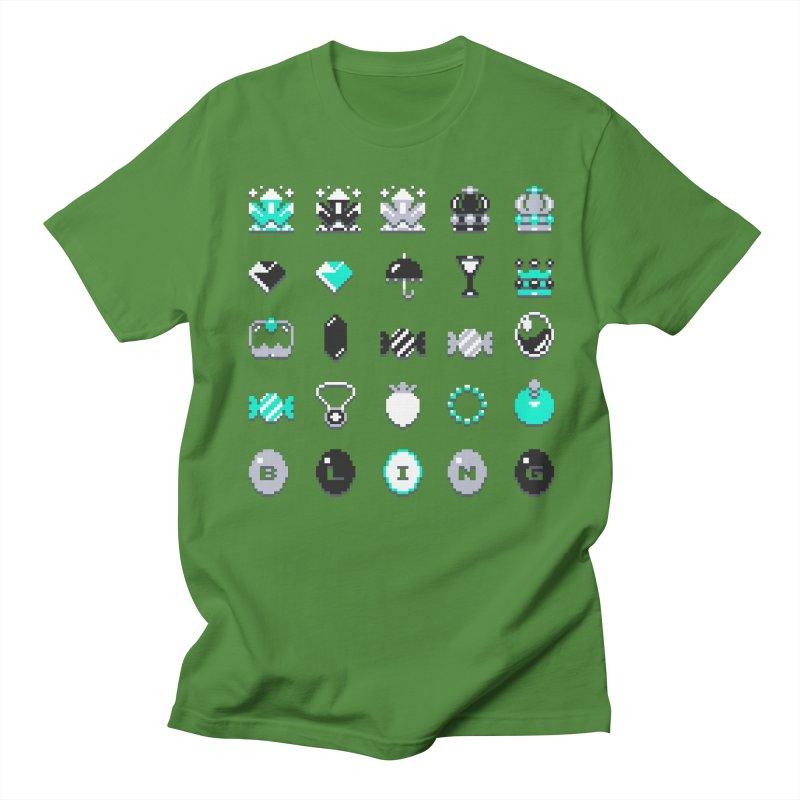 8-Bit Bling Men's T-shirt by Spires Artist Shop