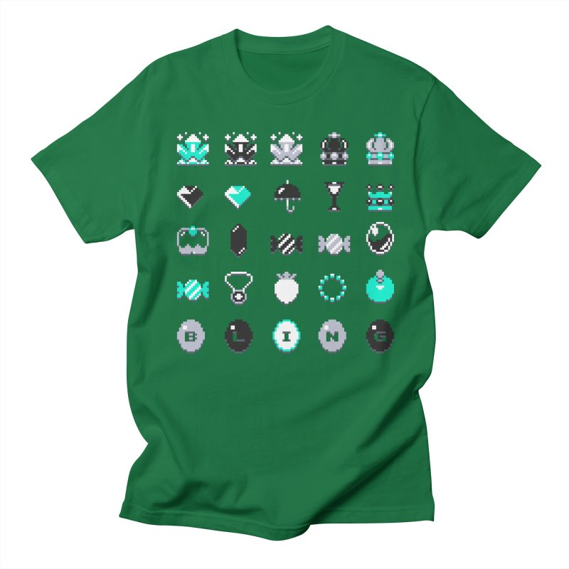8-Bit Bling Men's T-Shirt by Spires Artist Shop