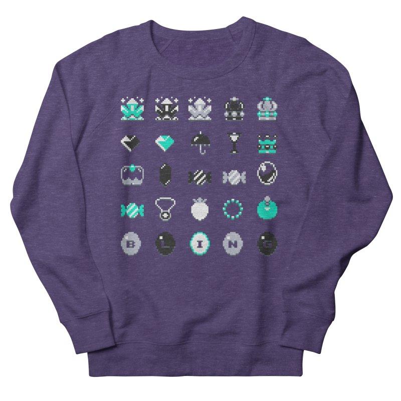 8-Bit Bling Men's French Terry Sweatshirt by Spires Artist Shop