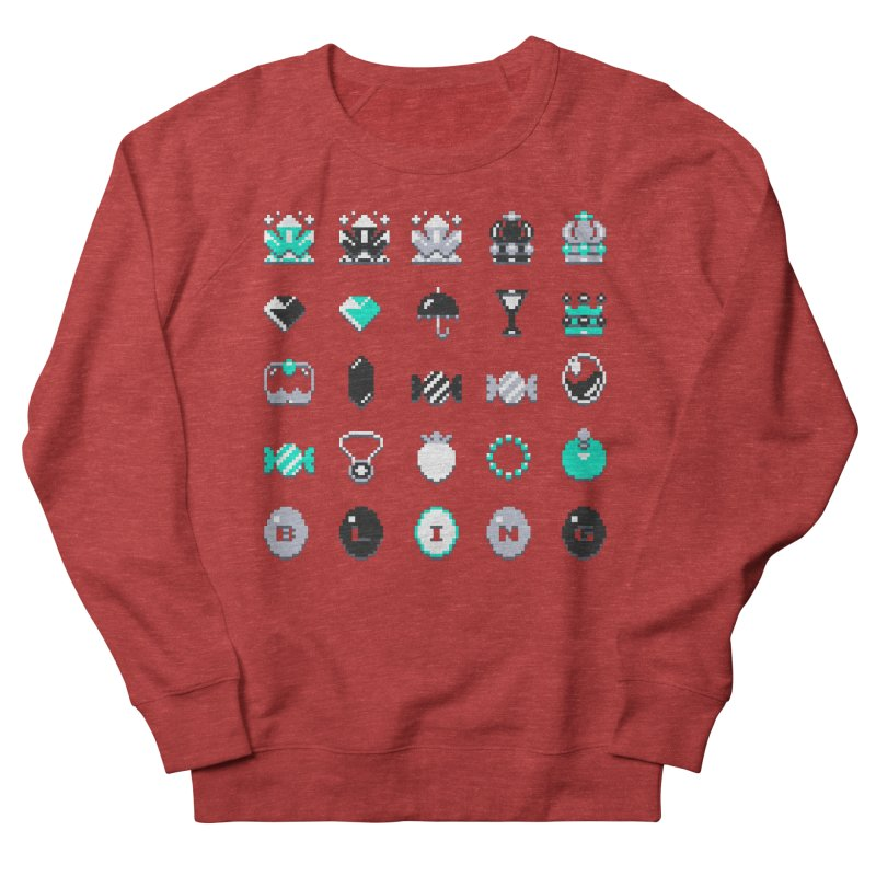 8-Bit Bling Men's French Terry Sweatshirt by Spires Artist Shop