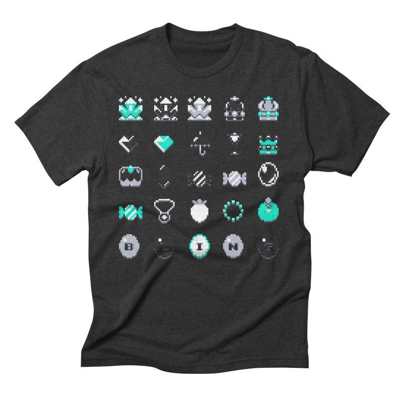8-Bit Bling Men's Triblend T-Shirt by Spires Artist Shop
