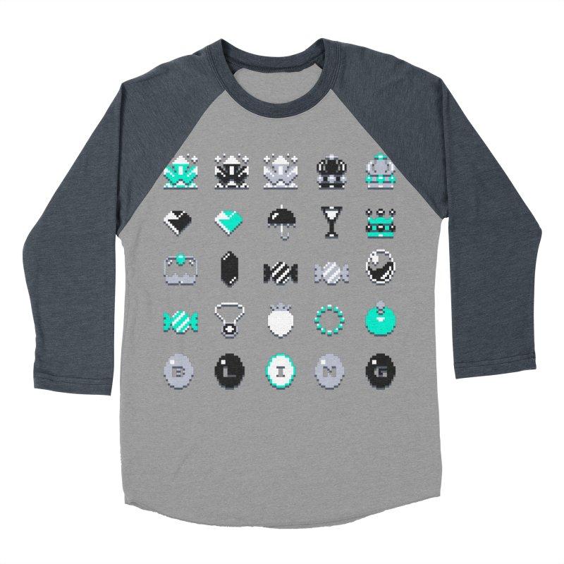 8-Bit Bling Women's Baseball Triblend T-Shirt by Spires Artist Shop
