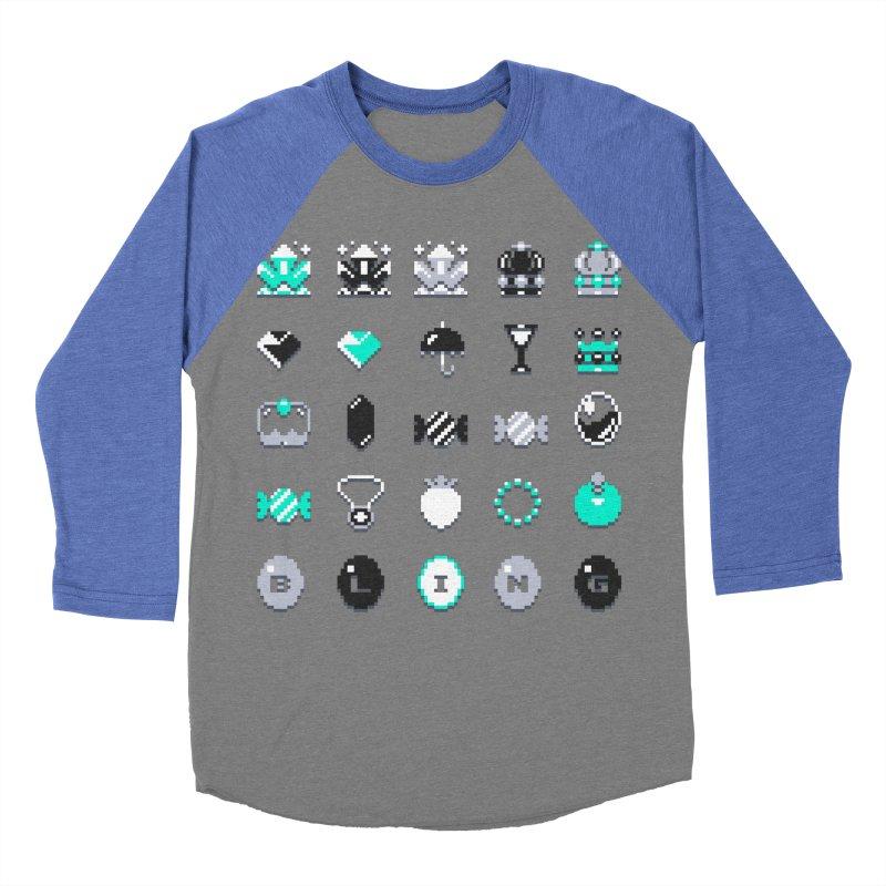 8-Bit Bling Men's Baseball Triblend T-Shirt by Spires Artist Shop