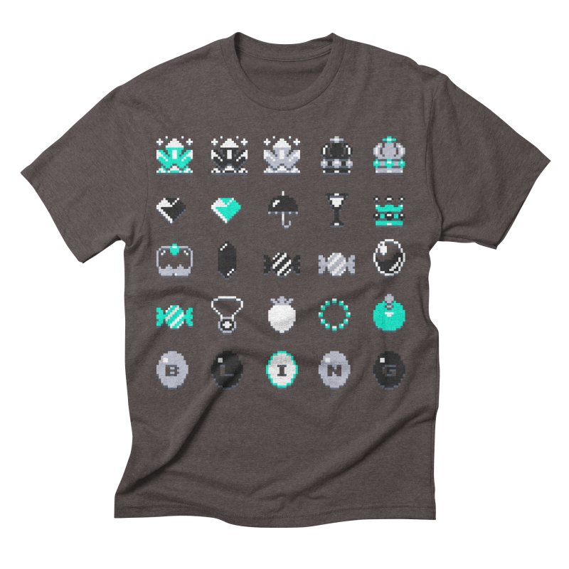 8-Bit Bling Men's Triblend T-shirt by Spires Artist Shop