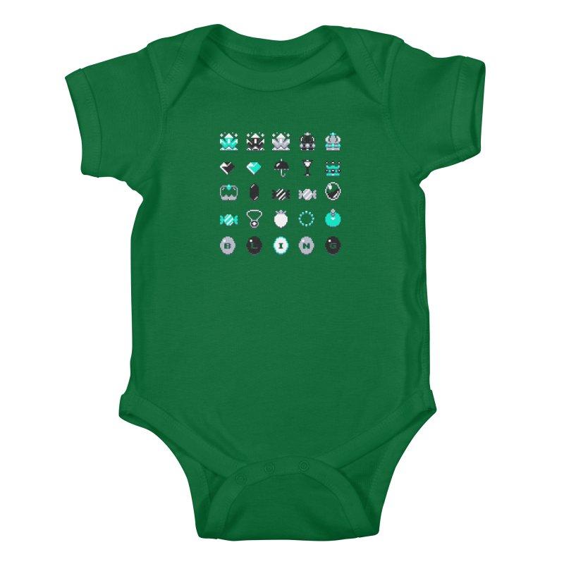 8-Bit Bling Kids Baby Bodysuit by Spires Artist Shop