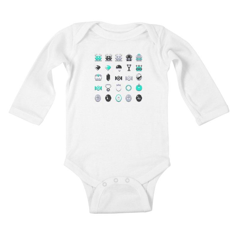 8-Bit Bling Kids Baby Longsleeve Bodysuit by Spires Artist Shop
