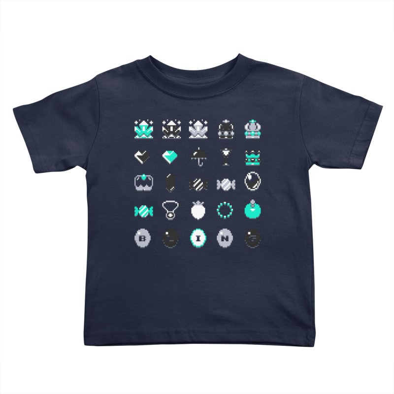 8-Bit Bling Kids Toddler T-Shirt by Spires Artist Shop