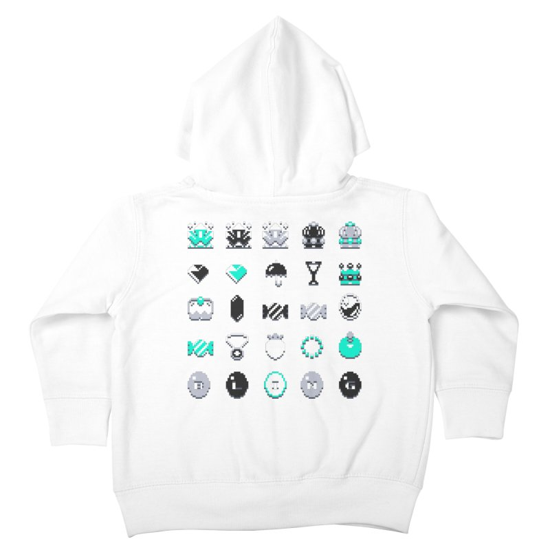 8-Bit Bling Kids Toddler Zip-Up Hoody by Spires Artist Shop
