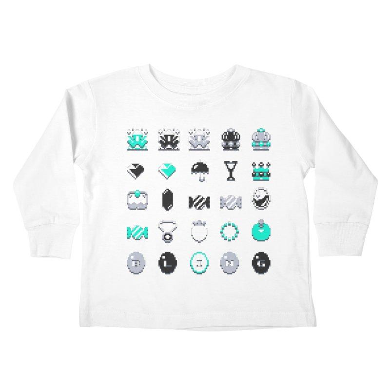 8-Bit Bling Kids Toddler Longsleeve T-Shirt by Spires Artist Shop