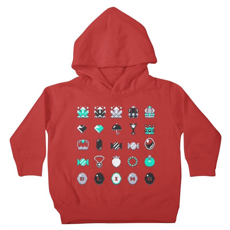 8-Bit Bling Kids Toddler Pullover Hoody by Spires Artist Shop