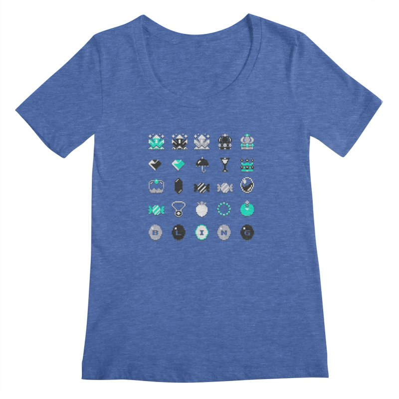 8-Bit Bling Women's Scoopneck by Spires Artist Shop