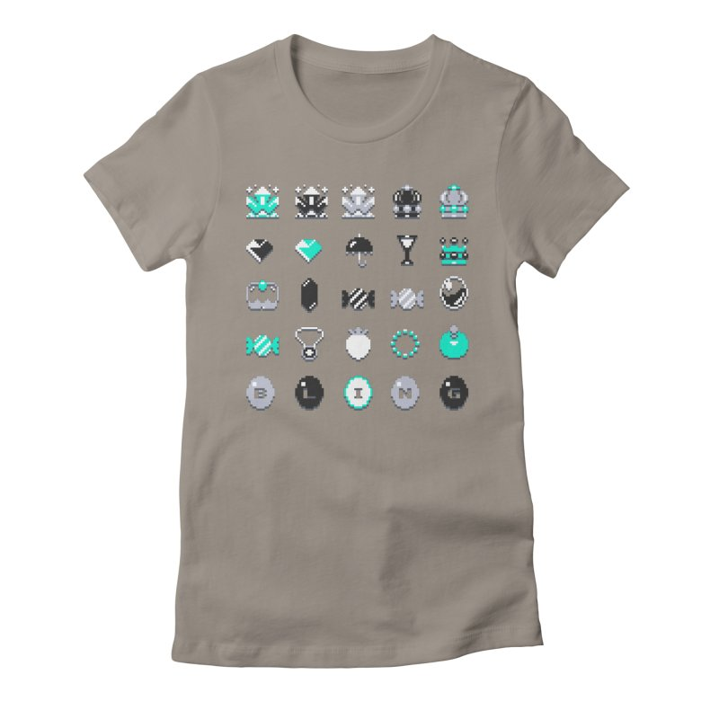 8-Bit Bling Women's Fitted T-Shirt by Spires Artist Shop