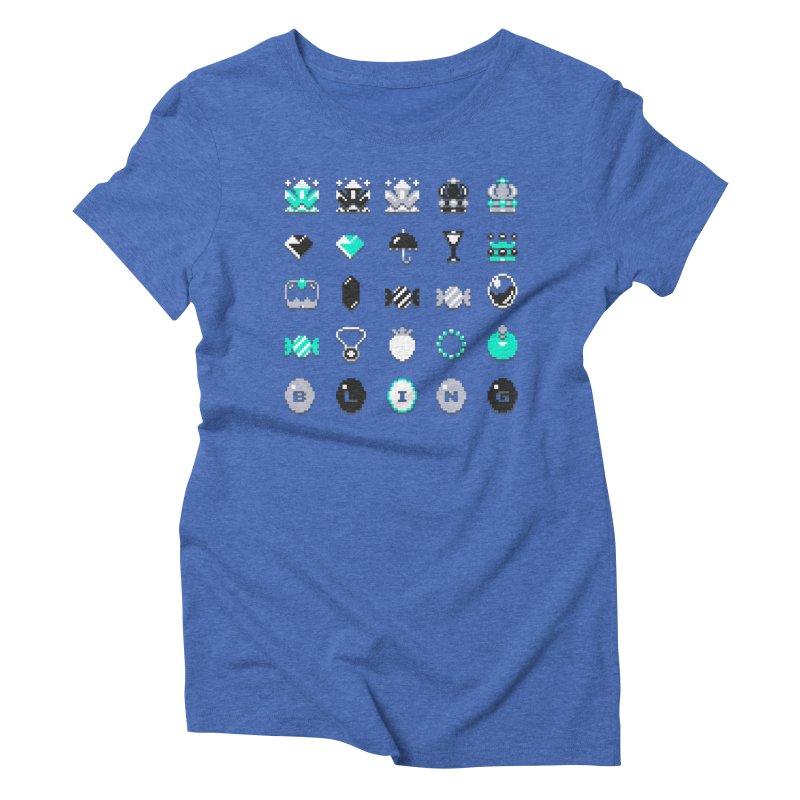 8-Bit Bling Women's Triblend T-shirt by Spires Artist Shop